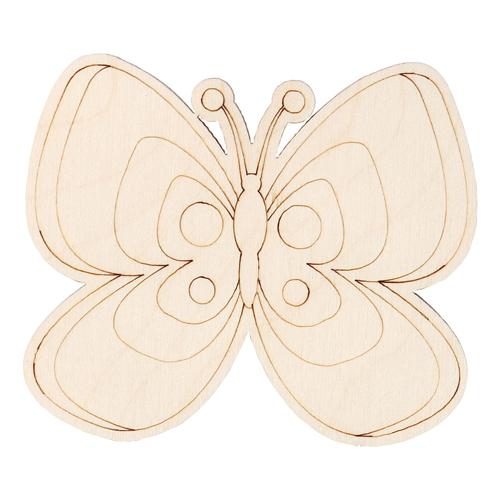 L-1107 Деревянная заготовка Бабочка №8 7,9*6,8см АСТРА