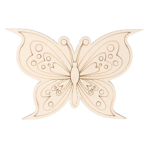 L-1111 Деревянная заготовка Бабочка №12 9,2*5,9см АСТРА