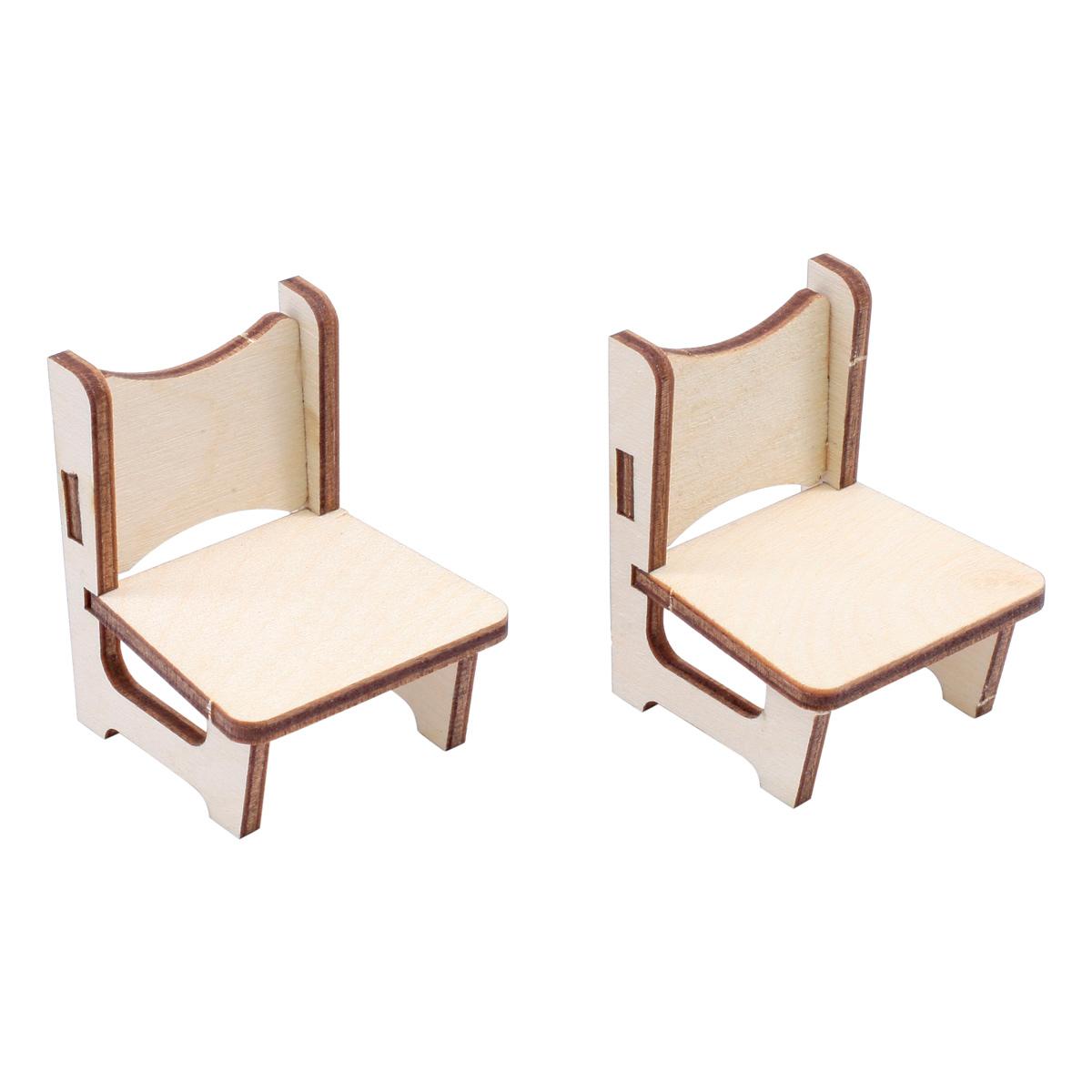 L-1130 Деревянная заготовка Набор стульев 4шт 11*11см АСТРА