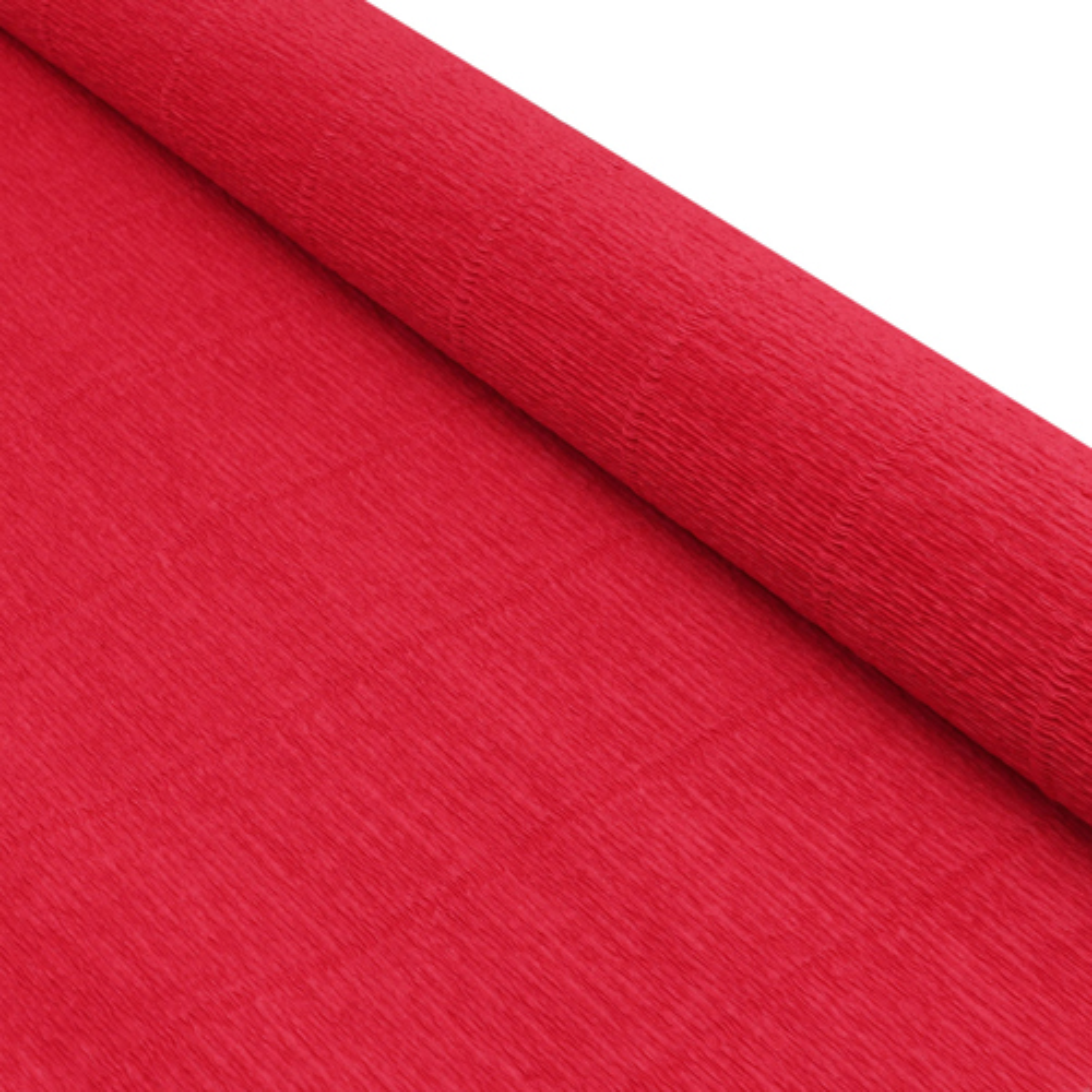 87500368 Бумага гофрированная простая, 50см*2,5м 180гр 17А/6 красный