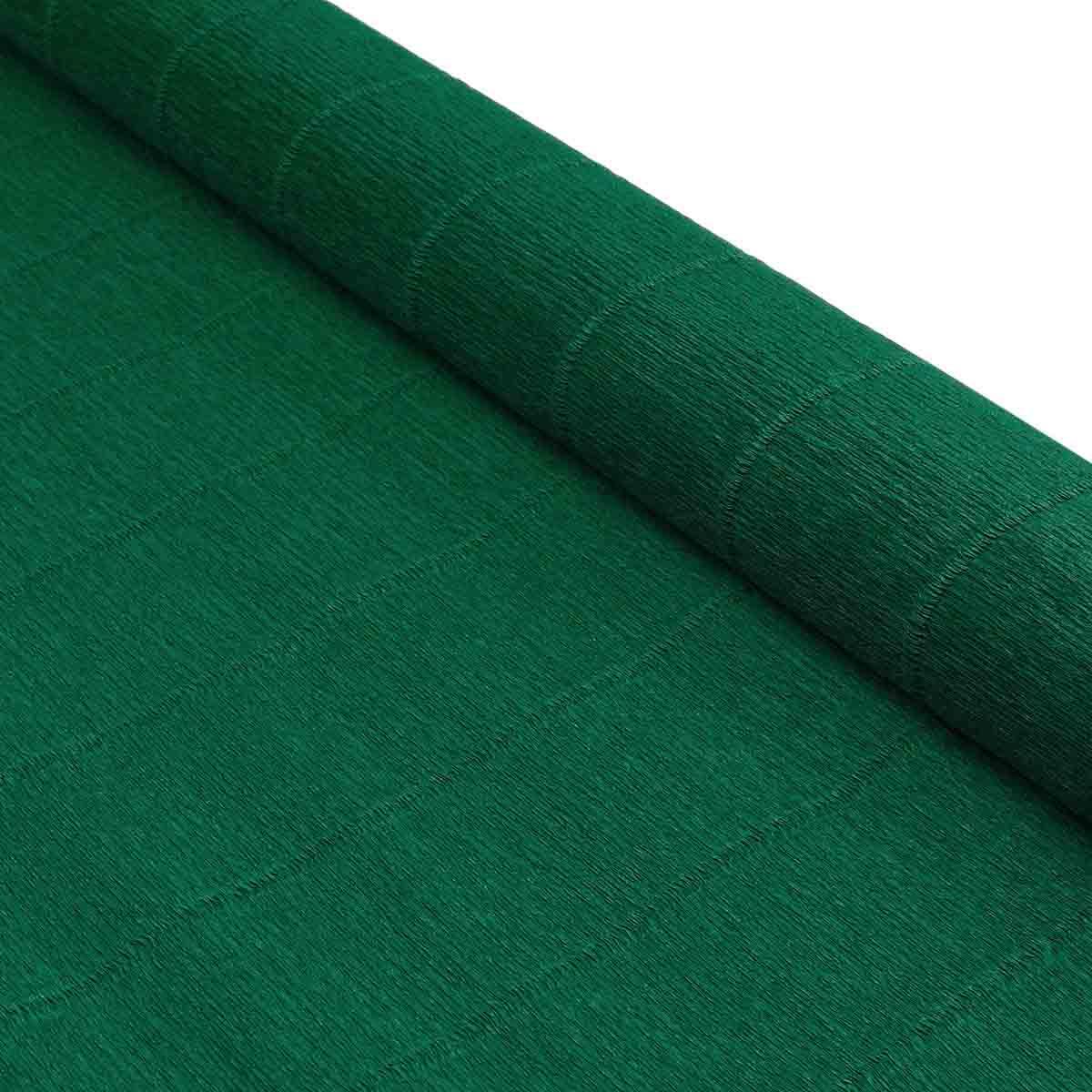 58870 Бумага гофрированная простая, 50см*2,5м 180гр 561 хвойно-зеленая
