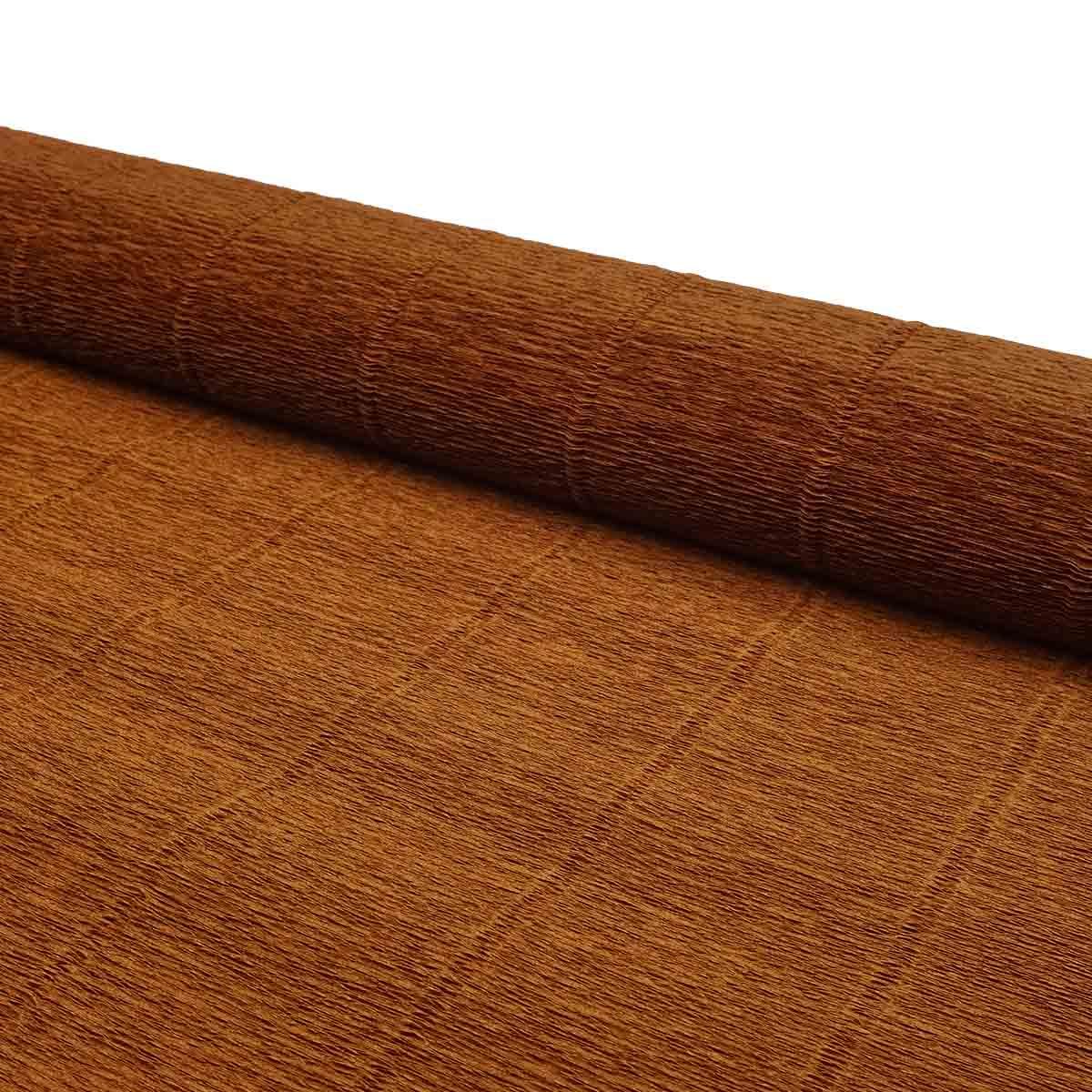 87500364 Бумага гофрированная простая, 50см*2,5м 180гр 568 коричневая
