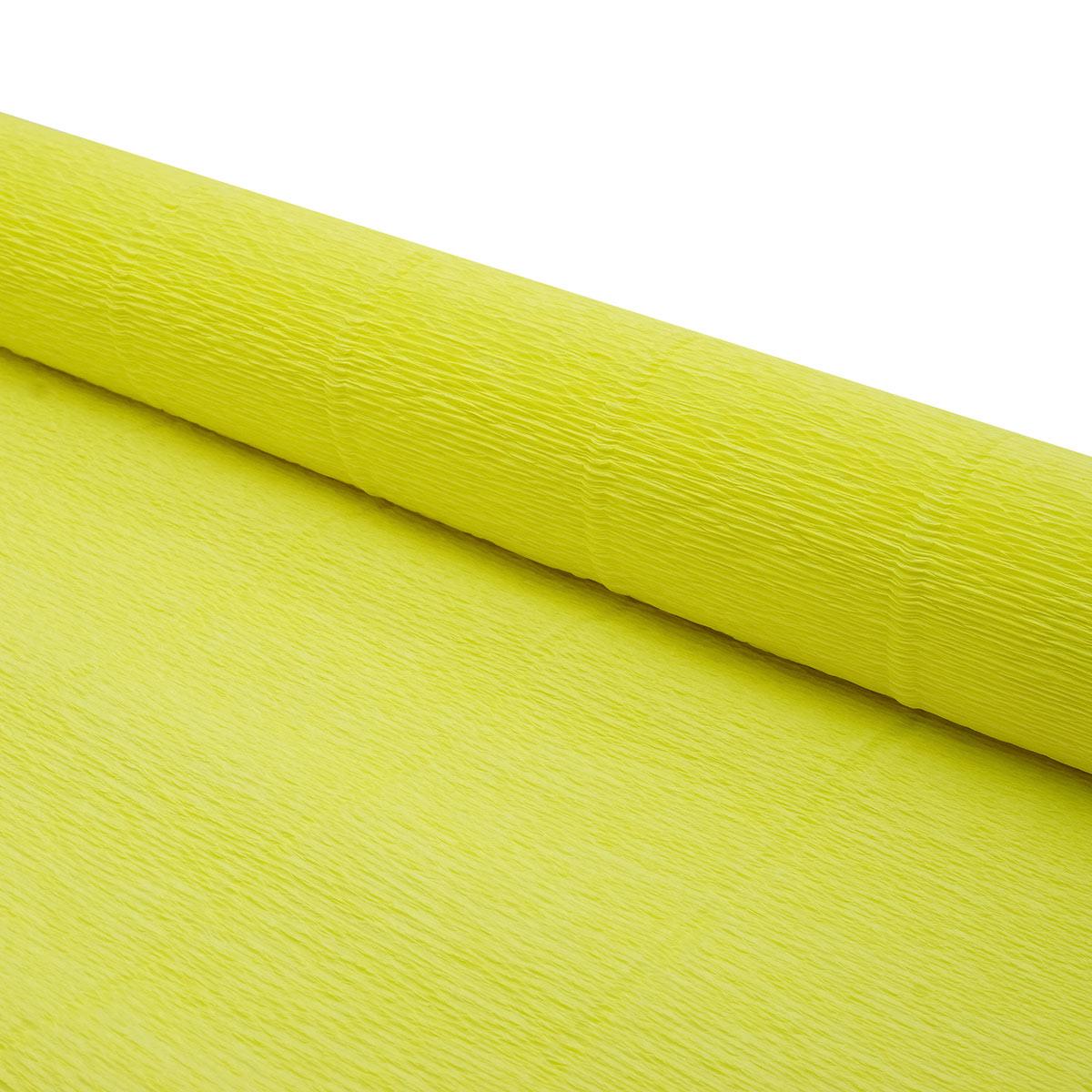 87500354 Бумага гофрированная простая, 50см*2,5м 180гр 574 желтый