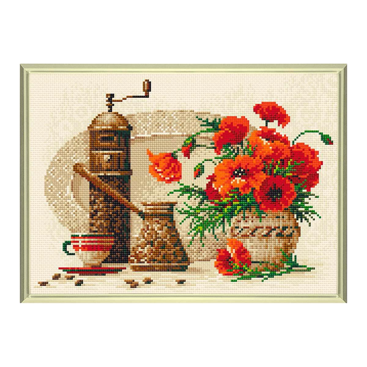 AM0012 Набор алмазной мозаики Риолис «Кофе» 38*27см