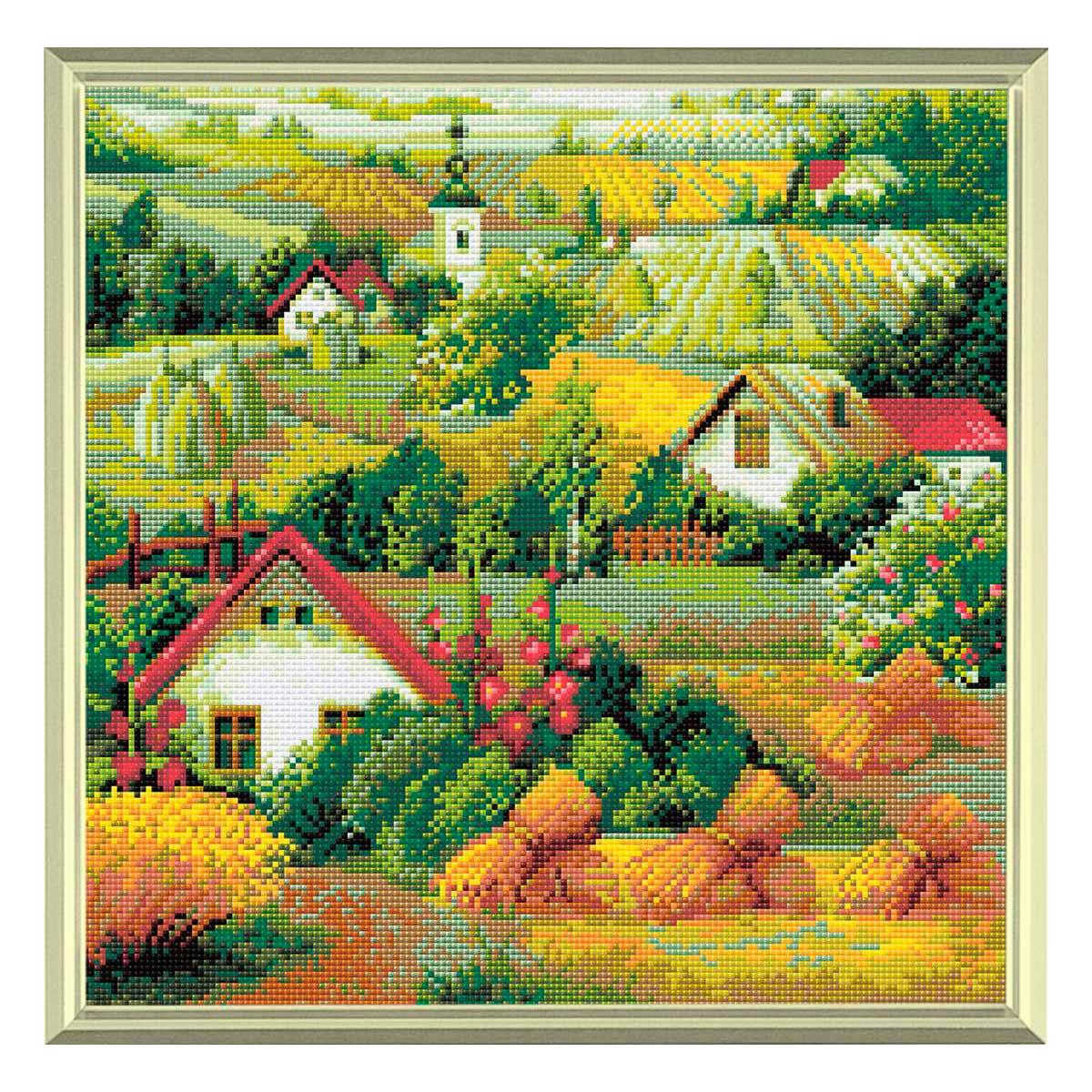 AM0013 Набор алмазной мозаики Риолис «Сербский пейзаж» 40*40см