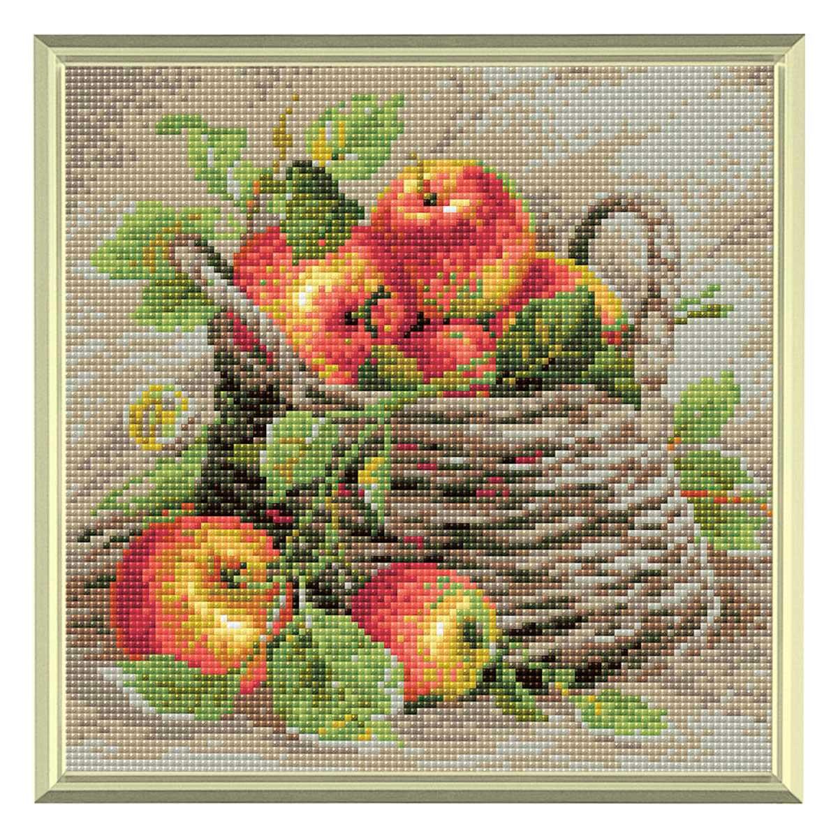 AM0015 Набор алмазной мозаики Риолис «Спелые яблоки» 27*27см
