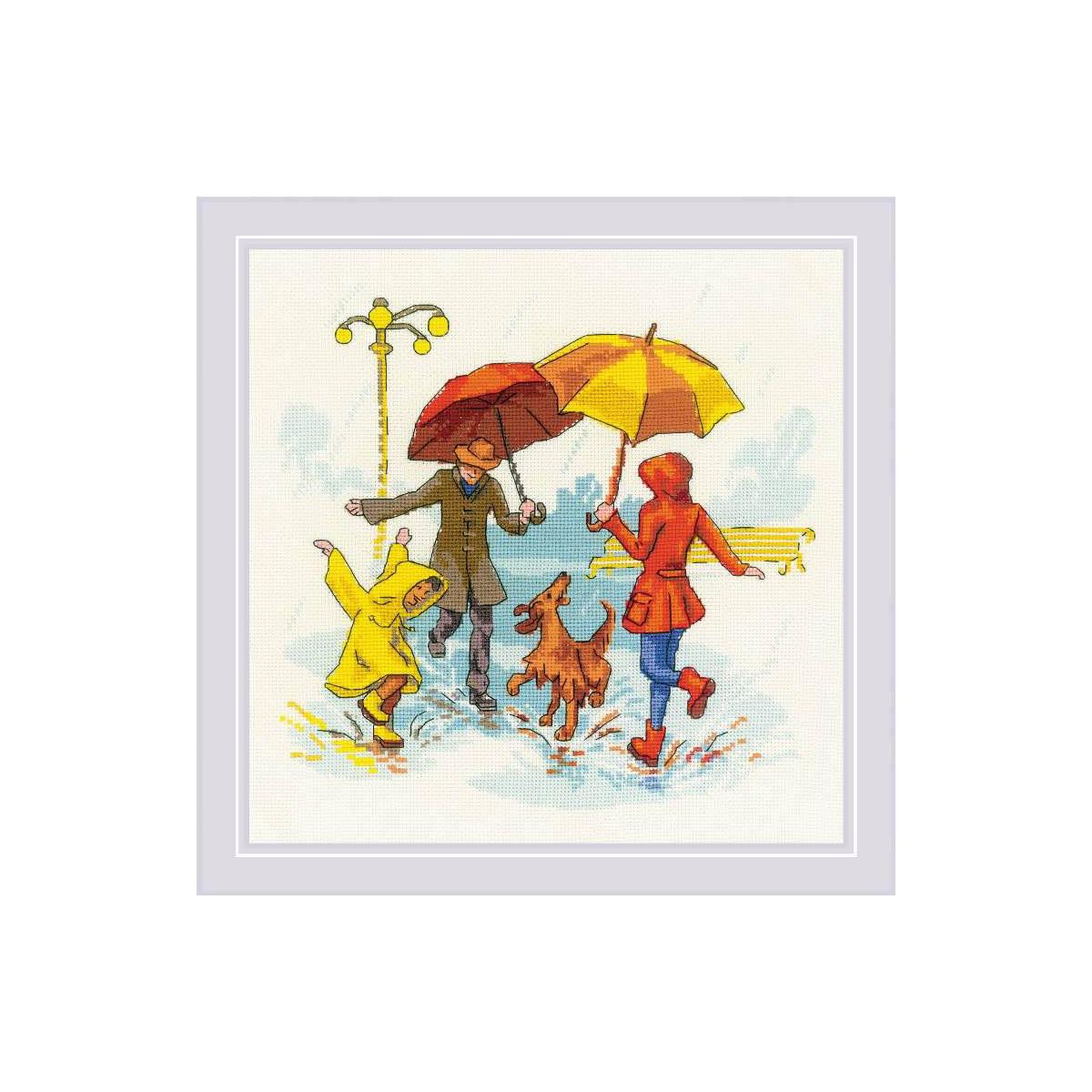 1799 Набор для вышивания Риолис 'Нет плохой погоды' 23*23см