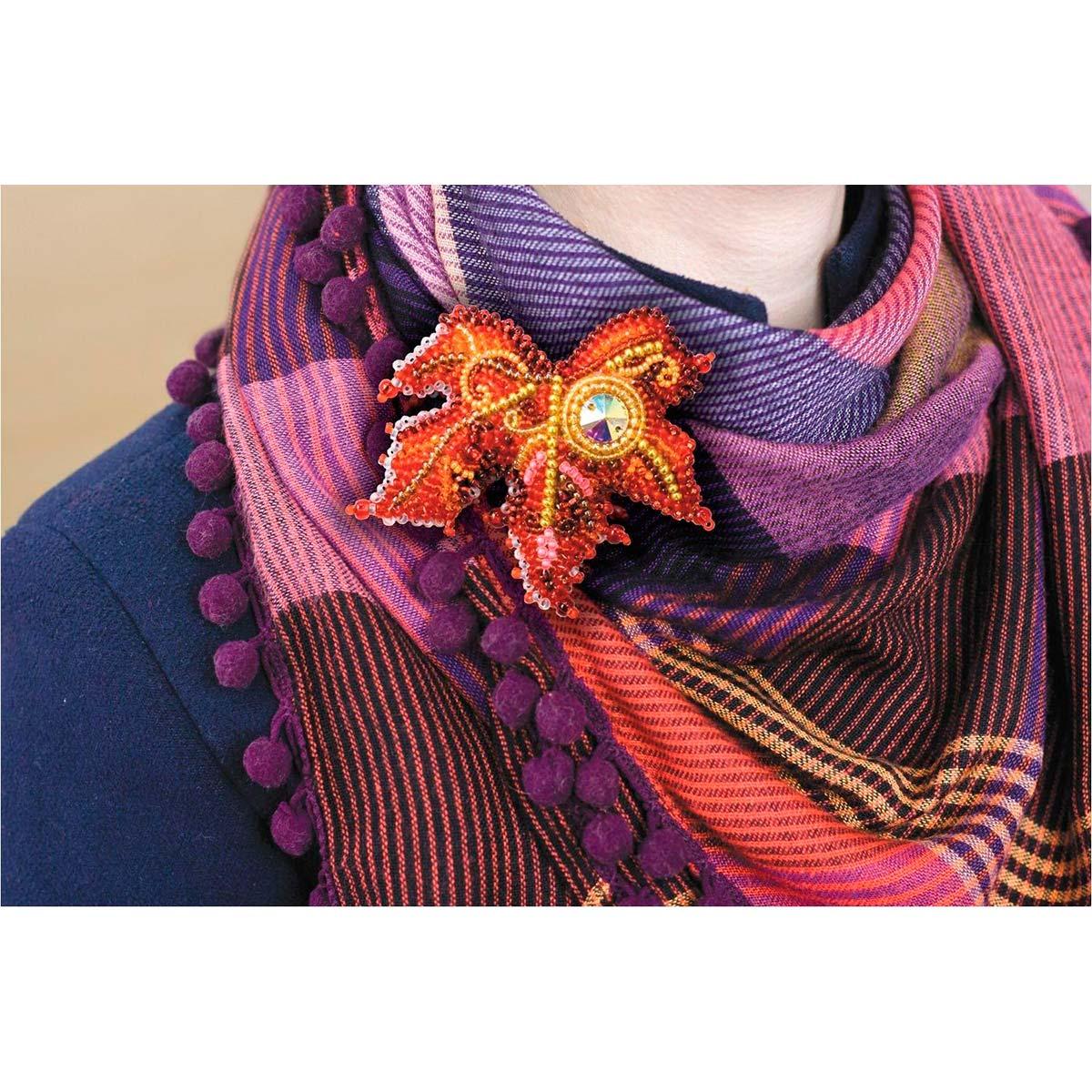 АД-018 Набор для вышивки бисером украшения на натур. художественном холсте 'Капелька солнца'6,8*6,3см