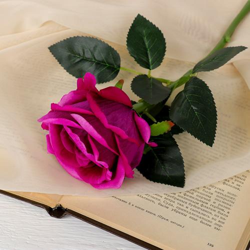 3933374 Цветы искусственные 'Роза венесуэльская' 8*23 см, фиолетовая