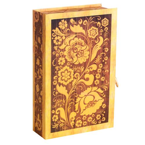 3847835 Коробка - книга «Берестяная », 20*12,5*5 см