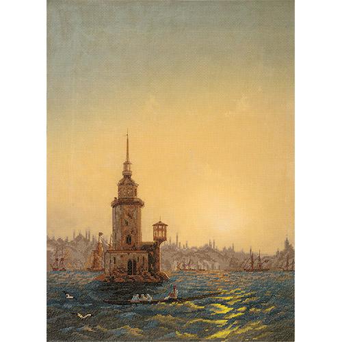GTG-7099 Набор для вышивания PANNA 'Вид Леандровой башни в Константинополе' 33*43.5см