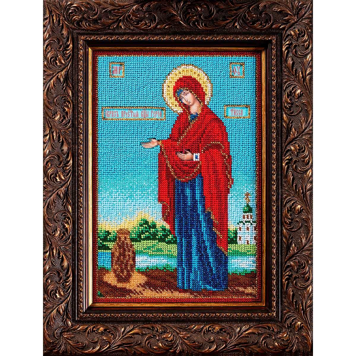 В196 Набор для вышивания бисером Кроше 'Богородица Геронтисса'18*27см фото