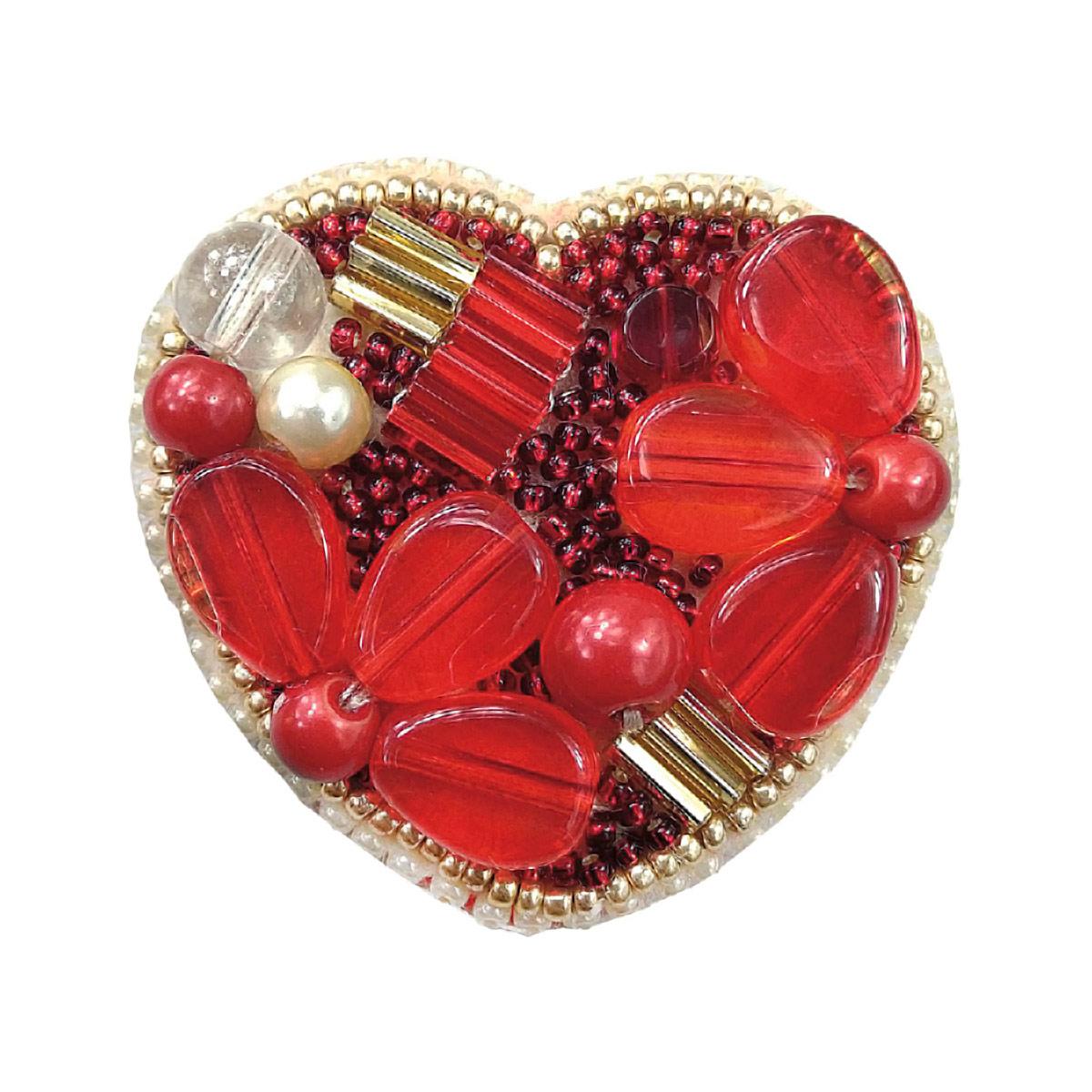 БП200 Набор для изготовления броши 'Сердце' 5,0*5,0см