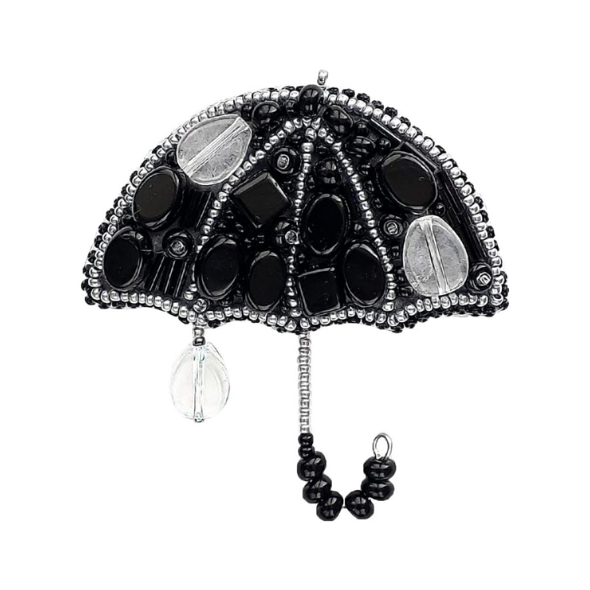 БП203 Набор для изготовления броши 'Вечерний дождик'(зонтик) 7,5х7,0см