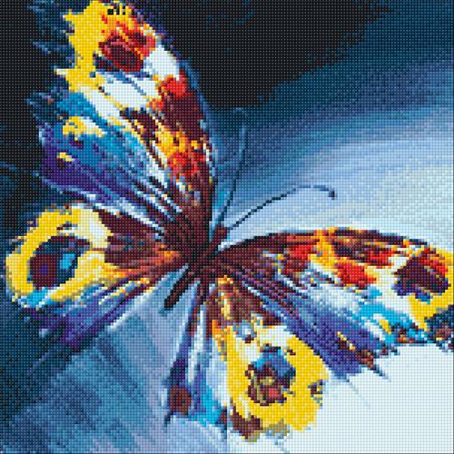 Ag 585 Набор д/изготовления картин со стразами 'Мотылек' 38*38см Гранни