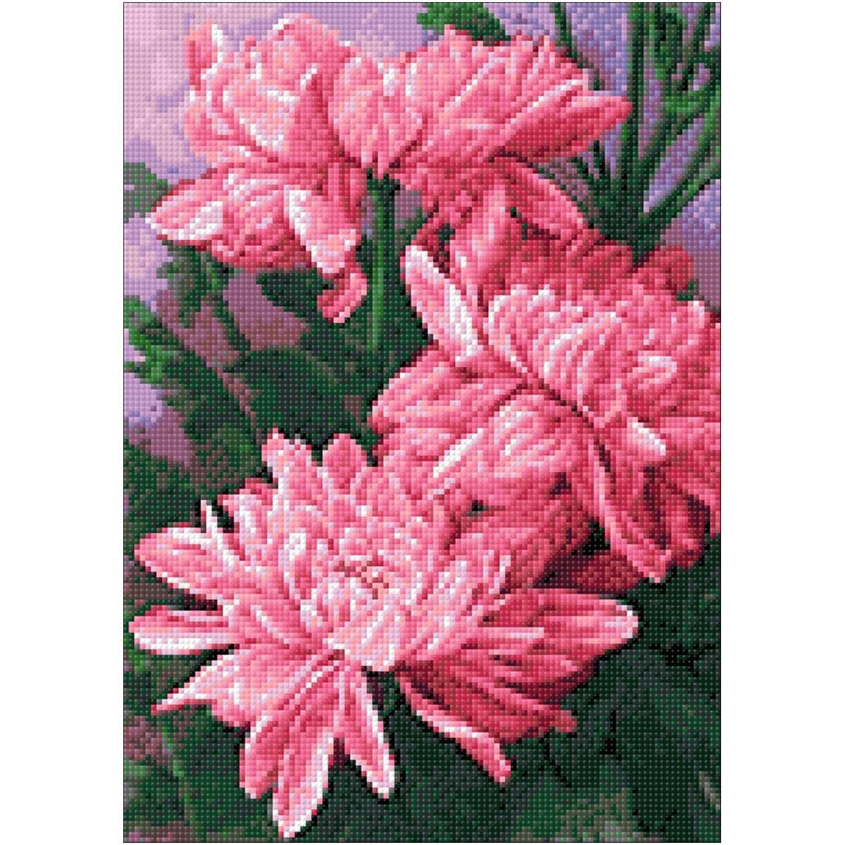 Ag 278 Набор д/изготовления картин со стразами 'Хризантемы'27*38см Гранни