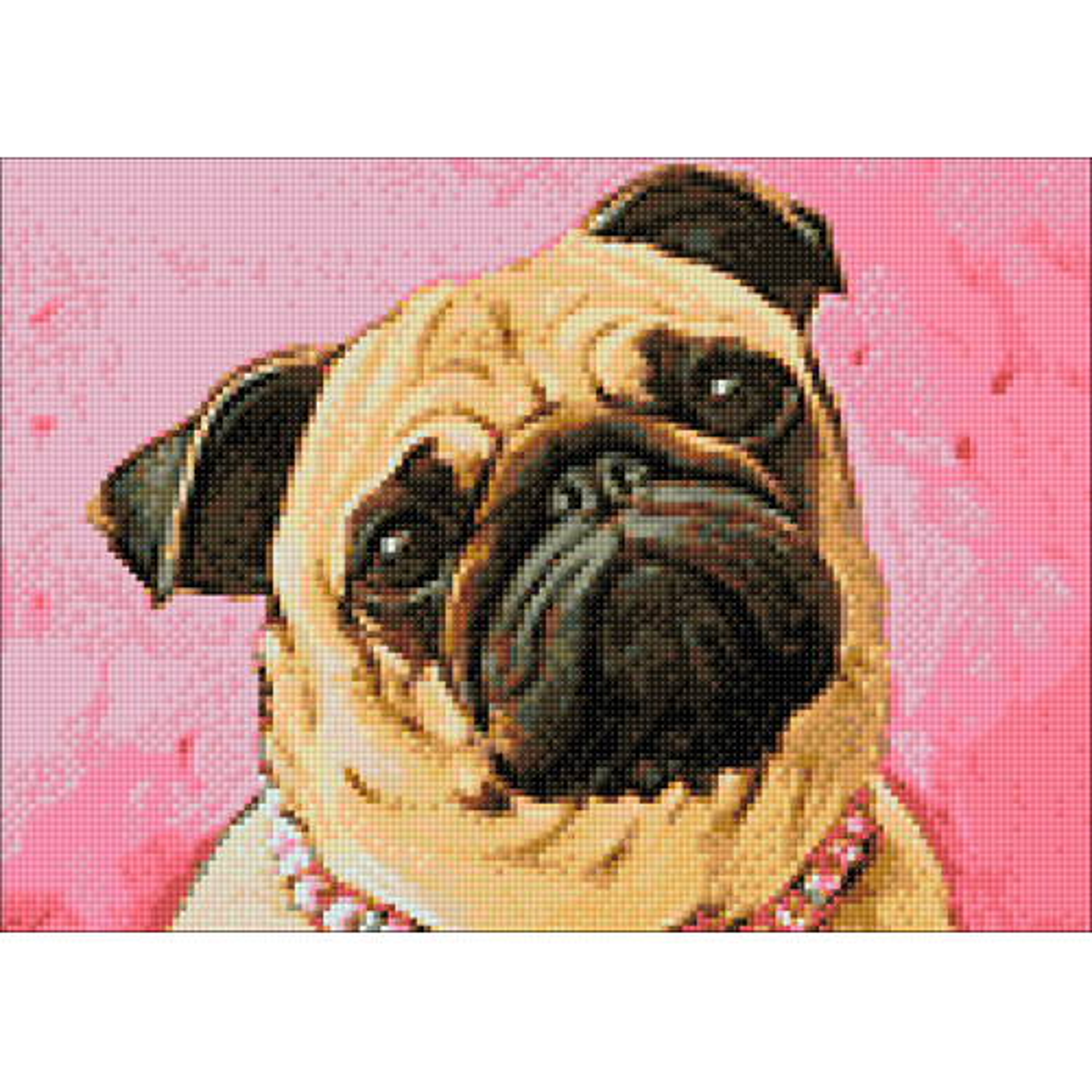 Ag 271 Набор д/изготовления картин со стразами 'Мопс' 38*27см Гранни
