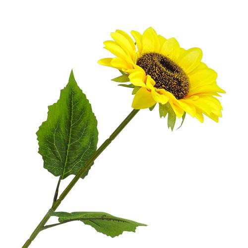 3794283 Цветы искусственные 'Подсолнух' 12*43 см, жёлтый