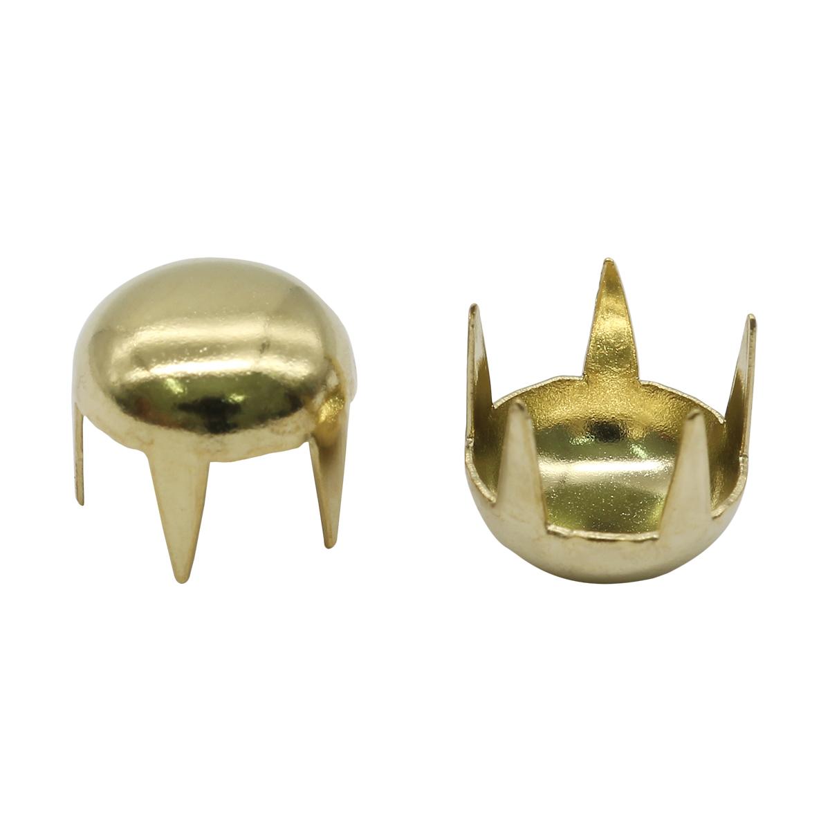 50842 Украшение д-9мм золот. с шипами