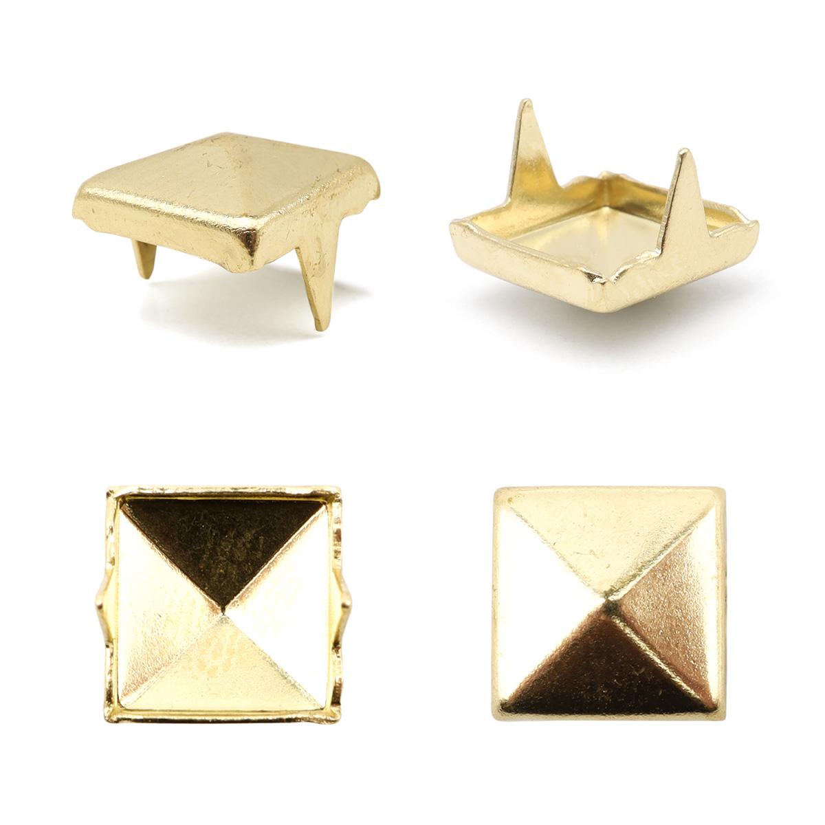 53232 Украшение 8*8мм золот. с шипами
