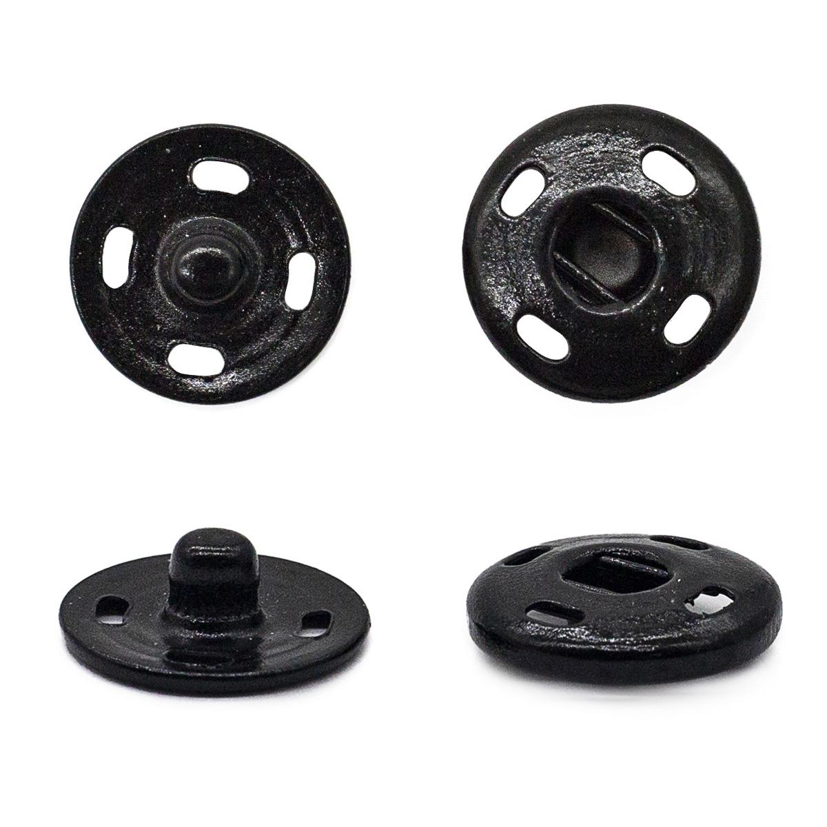 Кнопка пришивная PBM-3 мет. 14мм. черн. (24шт.) Кф (0300-5100)