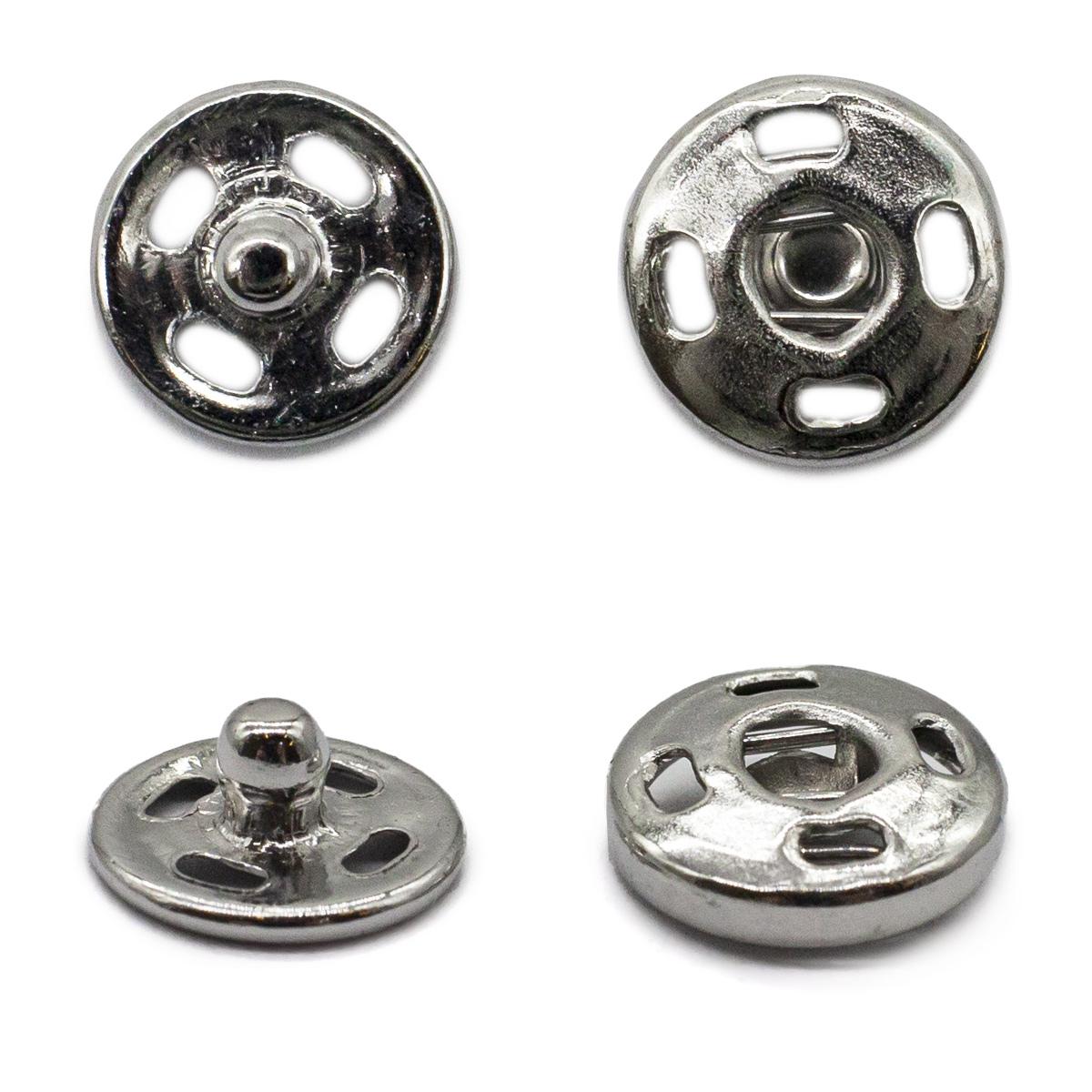 Кнопка пришивная PBM-0 мет. 8,2мм. ник. (36шт.) Кф (0300-5100)