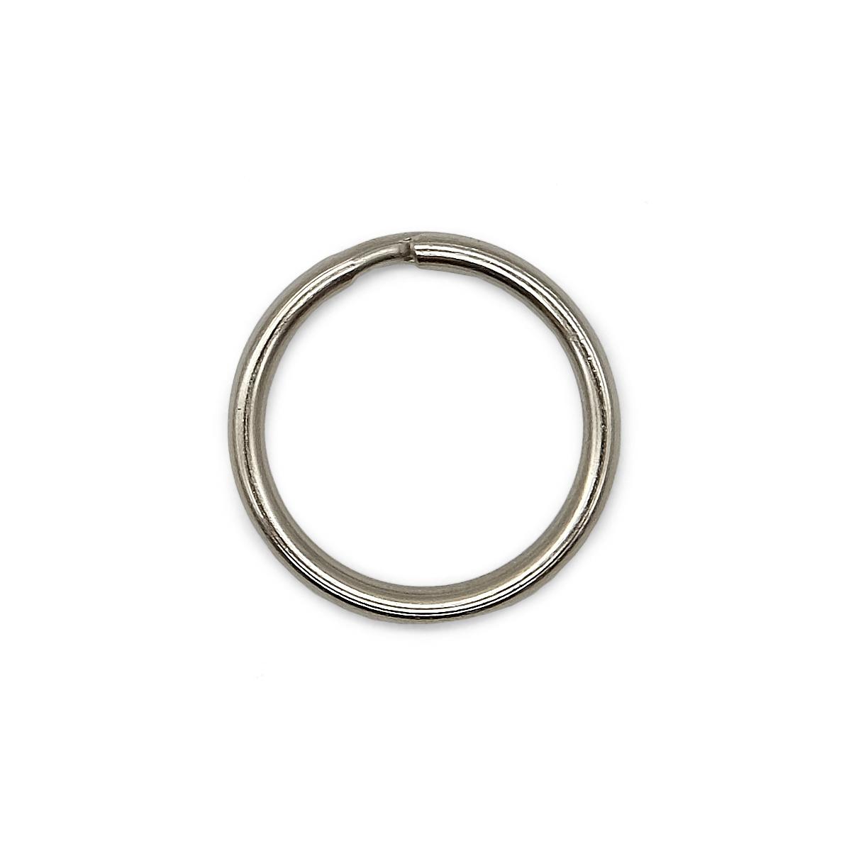 Кольцо для ключей 815-001, d=25*4мм, никель