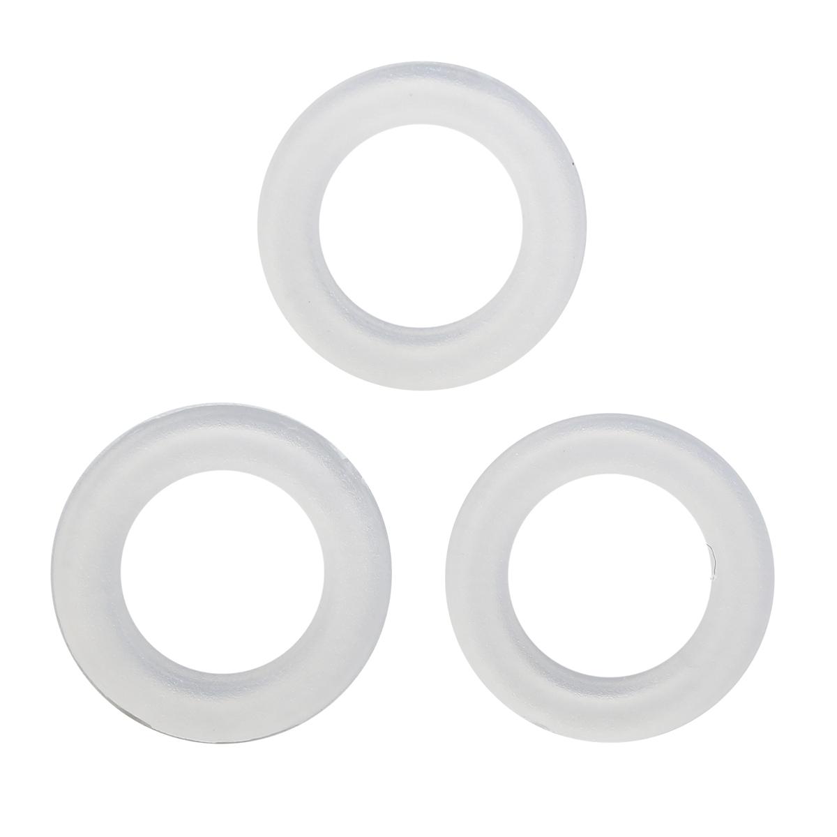 64773 Кольцо пласт. под кнопку, д-15мм кольцо , люверс д-5мм ГР