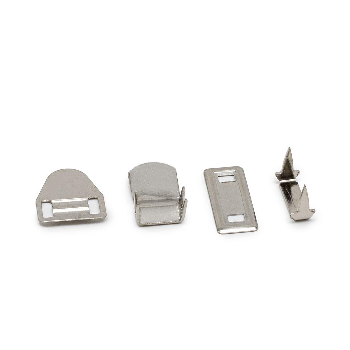 0300-0004 Крючок брючный на 4 прокола, никель