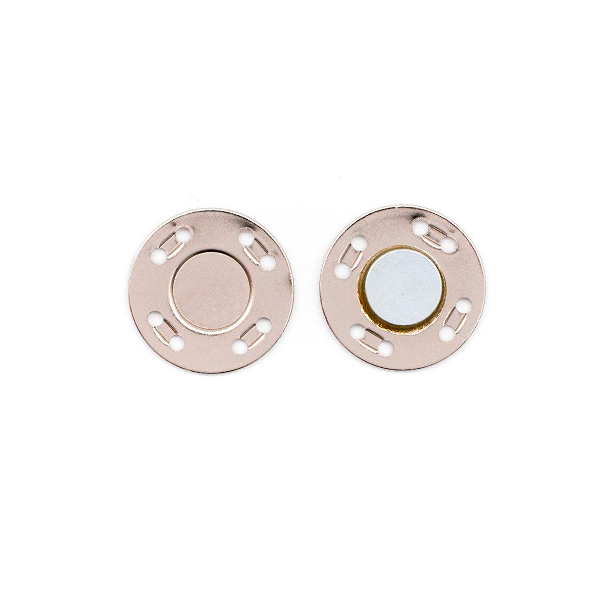 69015 Кнопка магнитная пришивн. 20мм никель ГР