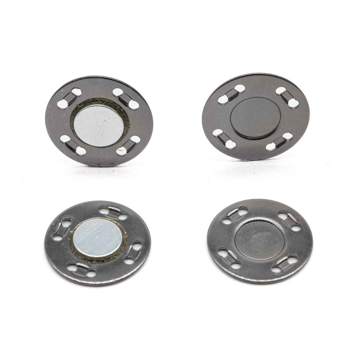 69016 Кнопка магнитная пришивн. 20мм чер/никель ГР