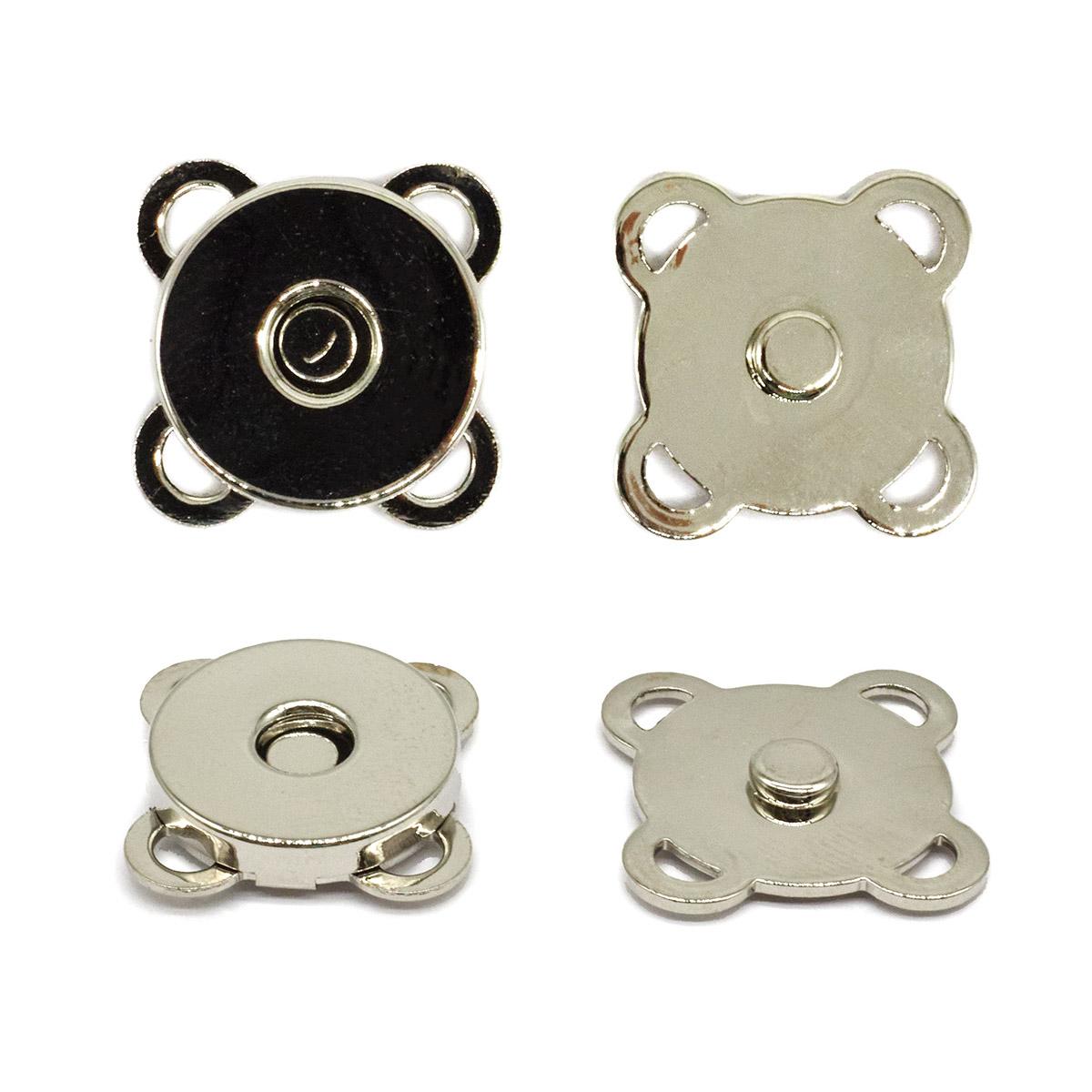 69020 Кнопка магнитная пришивн. 15мм никель ГР