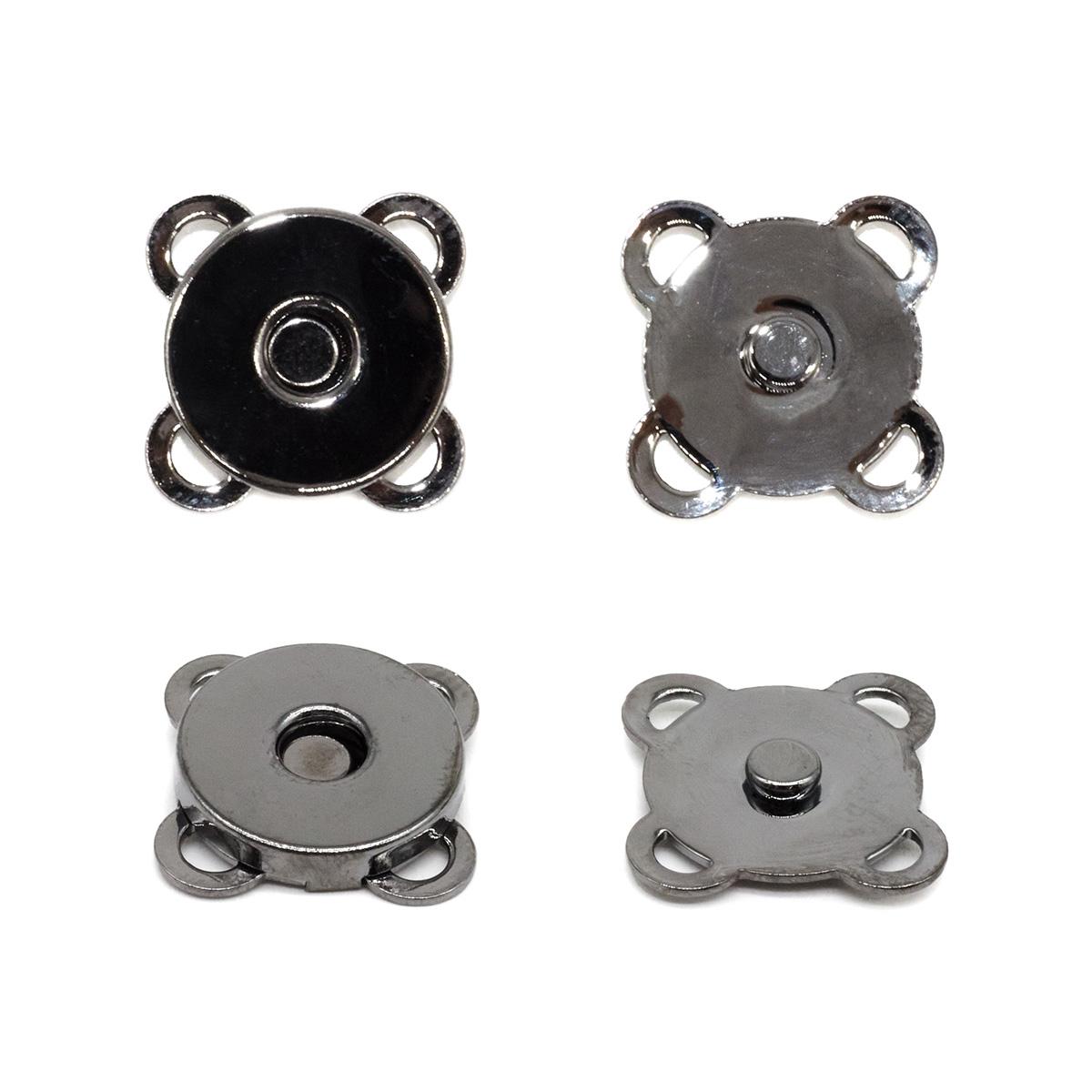 69021 Кнопка магнитная пришивн. 15мм чер/никель ГР