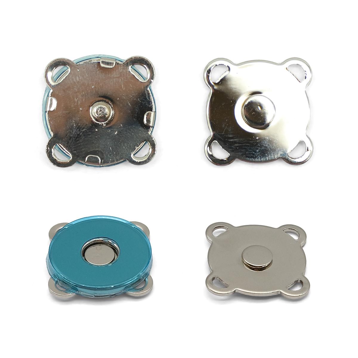 62145 Кнопка магнитная пришивн. 18мм ник. ГР