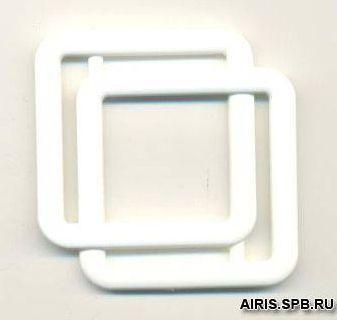 13-5321-14-30 Пряжка - рамка 30мм. бел. двойная ГР