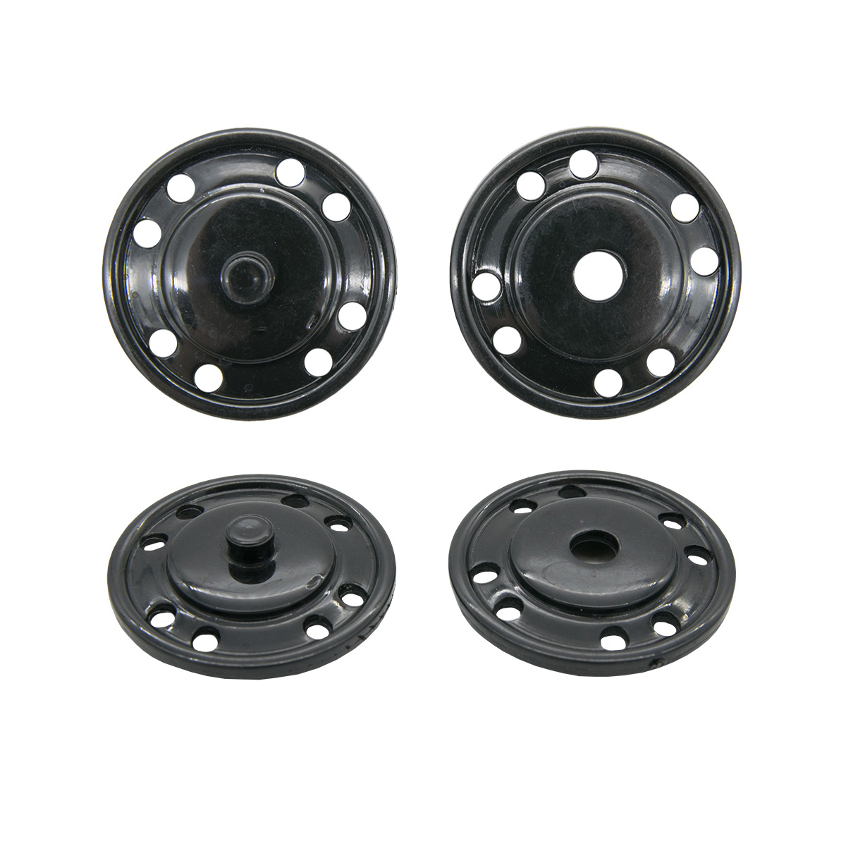 13-1329-14/BLACK-40 Кнопка пришивная д-23мм черн. пласт. ГР