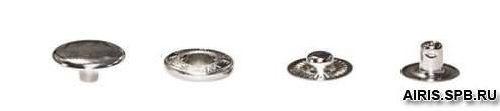 Кнопка ALFA 'пружина', 15 мм, упак./100 шт.
