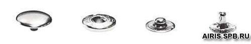 Кнопка курточная 'пружина' №54, 12,5 мм, упак./100 шт.