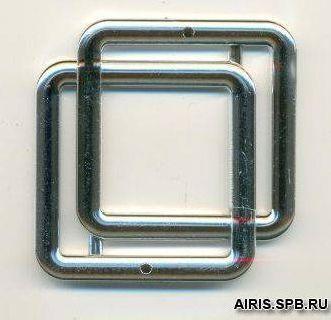 13-5321-01-30 Пряжка - рамка 30мм. ник. ABC двойная ГР