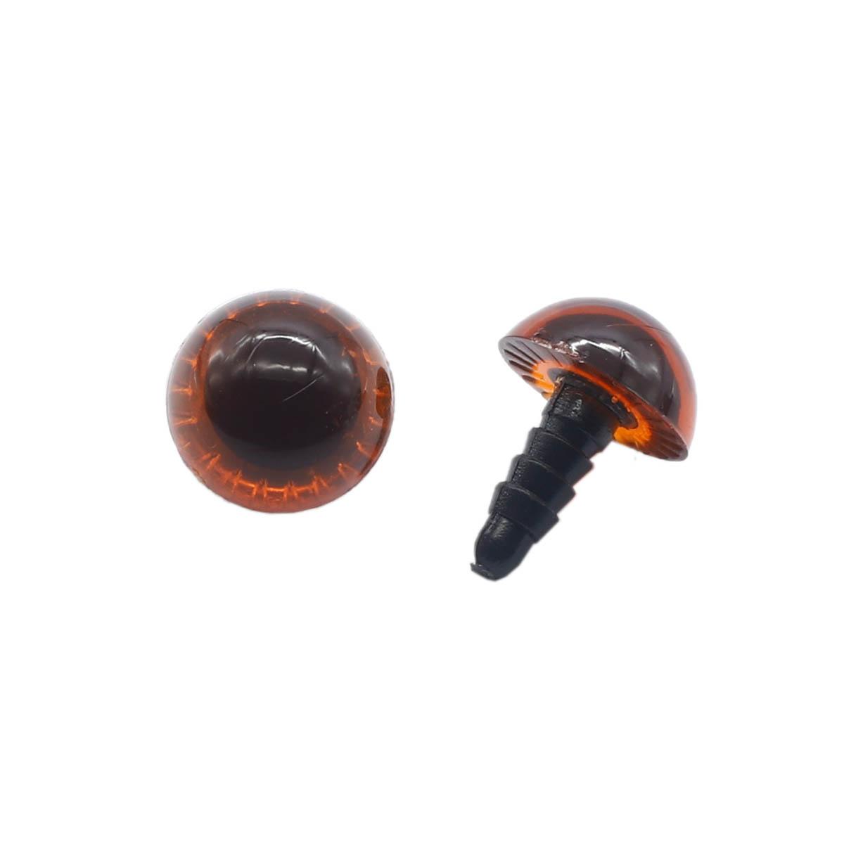 Глаза для игрушек Д16-20мм пластик. (20 мм /коричневый) фото