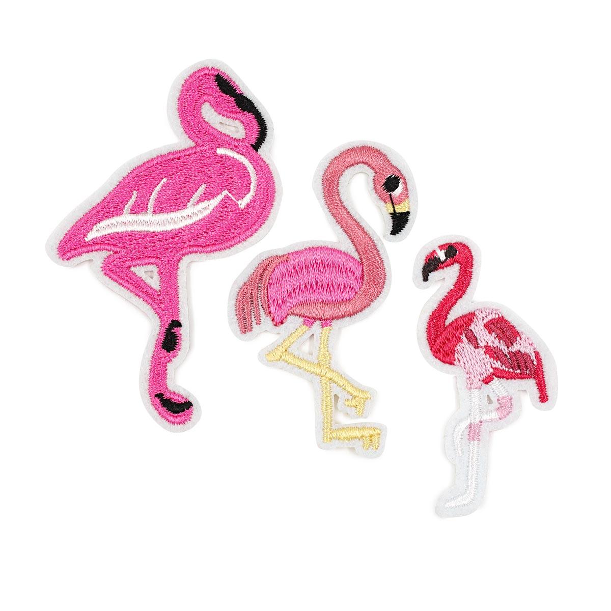 3579251 Наборы термоаппликация фламинго 3шт