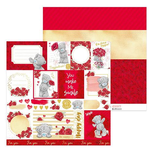 4086643 Бумага для скрапбукинга Me To You 'Роза' для тебя, 30,5х30,5 см, 180гр/м