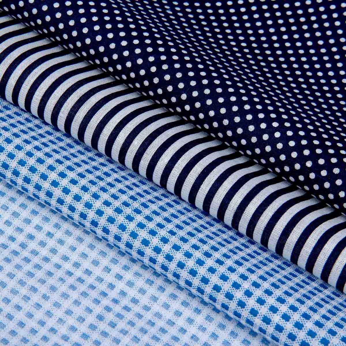 1163131 Набор ткани для пэчворка упак/3 шт «Морской», 30*40 см