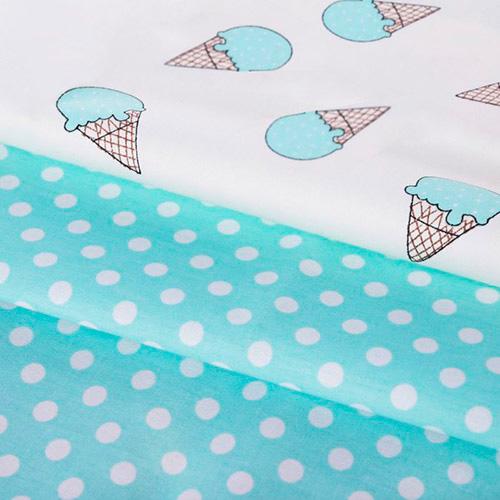 1872436 Набор ткани пэчворк «Мятное мороженое», 50*50 см