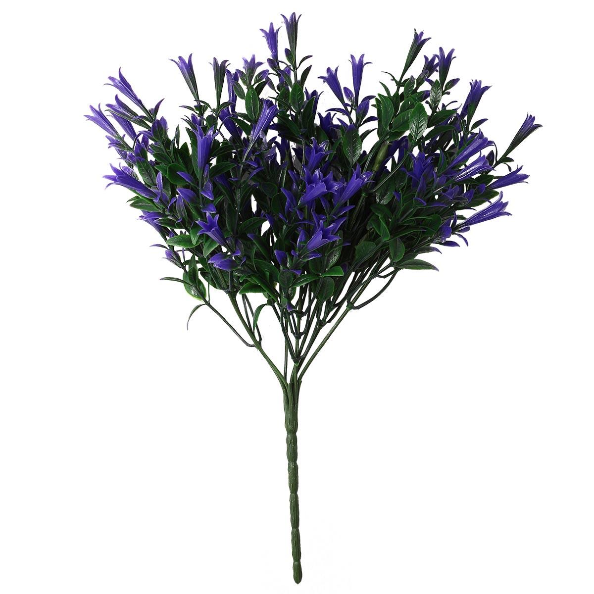28316 Веточка для декора 'Колокольчик' 17*32см, фиолетовый