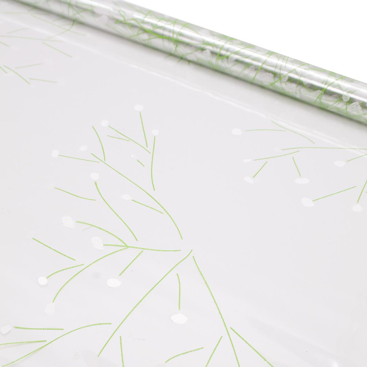 6049383 Пленка цветная Гипсофила 70см салатово-белый