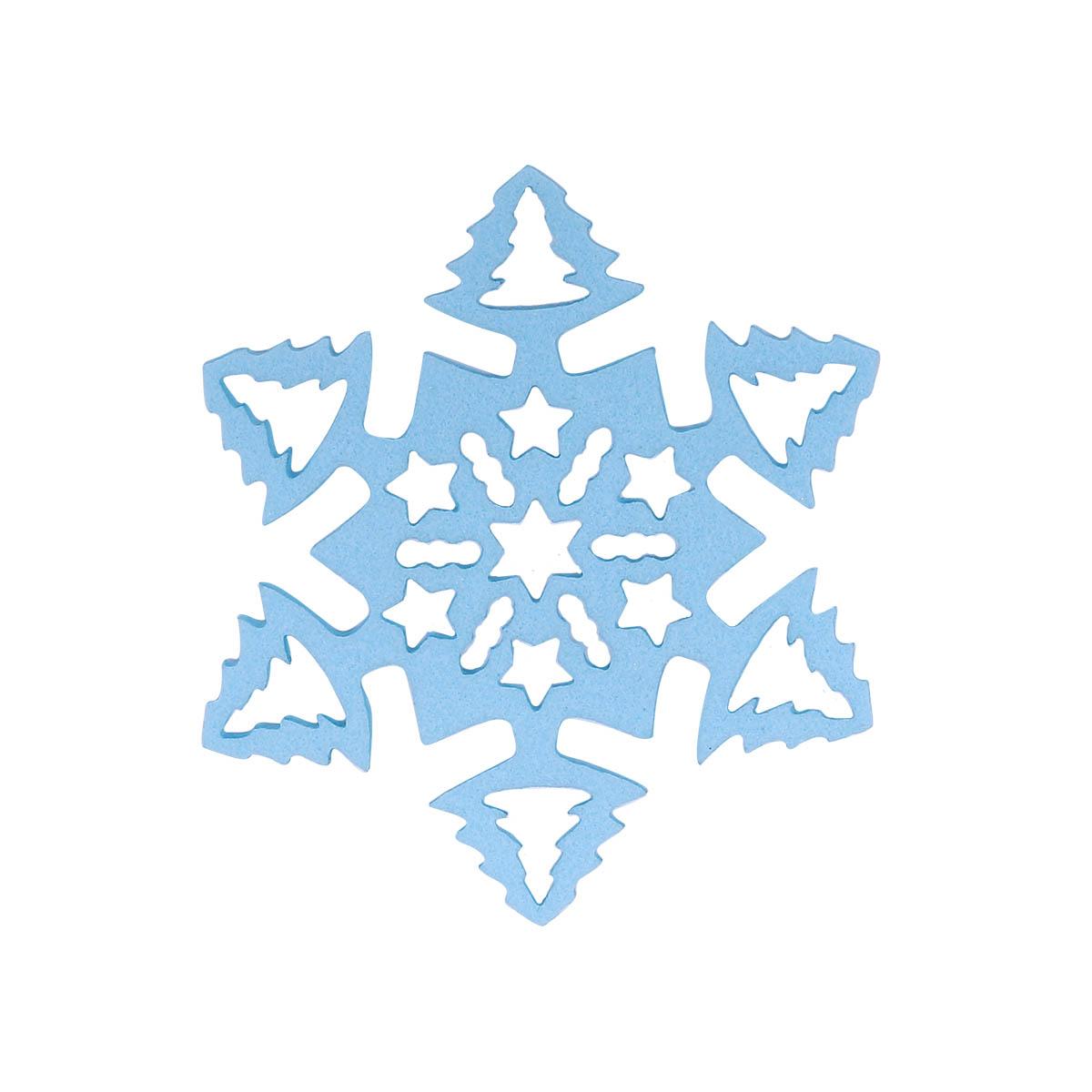 фом19-2 Заготовка из фоамирана 'Снежинка', 5х5 см,10шт