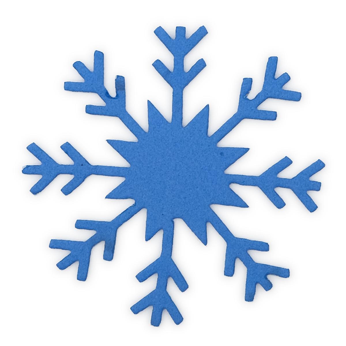 фом17-2 Заготовка из фоамирана 'Снежинка', 5х5 см,10шт