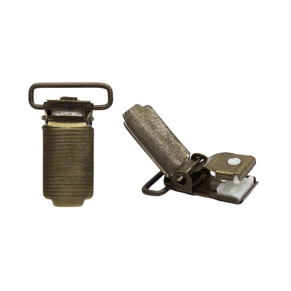Клипса для подтяжек 'полоса' 20 мм, сталь