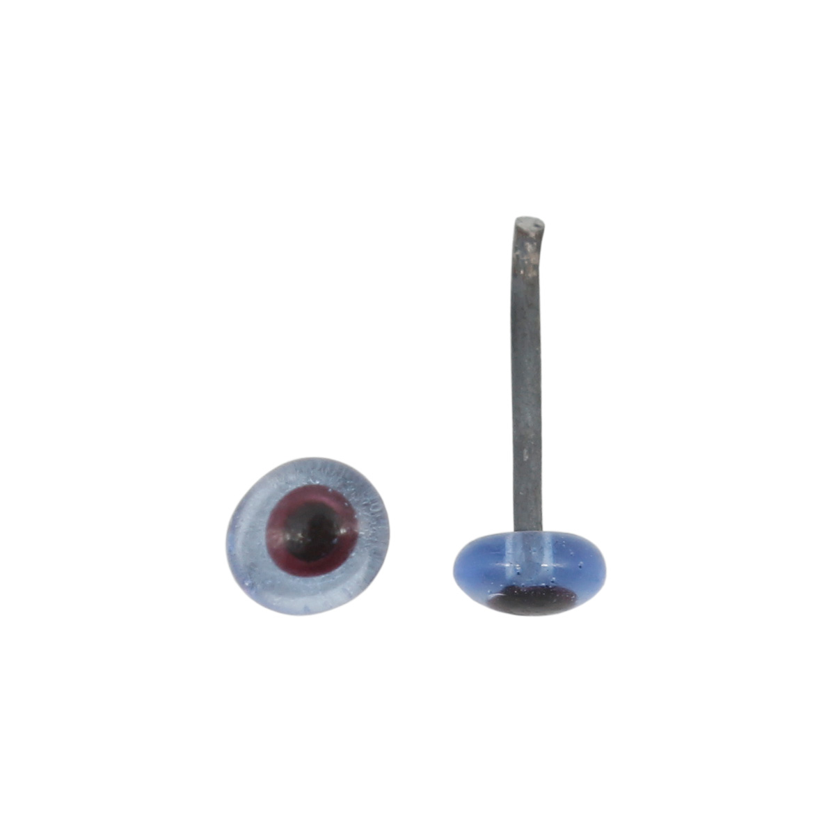 28809 Глазки 4мм на метал.ножке, упак/10шт, цв.голубой